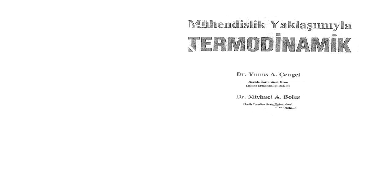 termodinamik yunus çengel